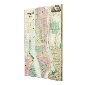 Map of New York and Vicinity Canvas Print
