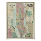 Map of New York and Vicinity Poster