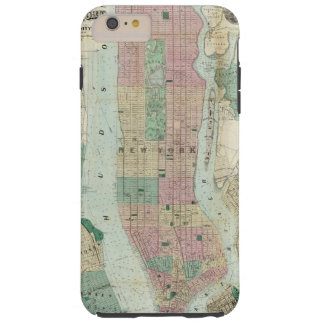 Map of New York and Vicinity Tough iPhone 6 Plus Case