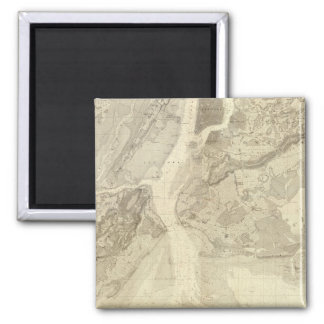 Map of New York Bay And Harbor And The Environs Fridge Magnets