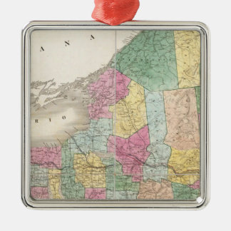 Map of New York Christmas Ornament
