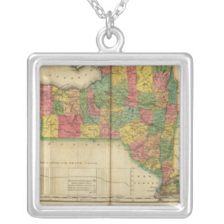 Map Of New York Silver Plated Necklace