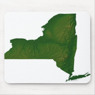 Map of New York State Mouse Mat