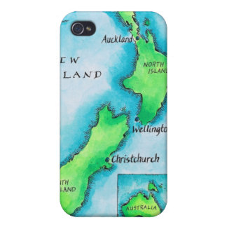 Map of New Zealand 2 iPhone 4 Cover