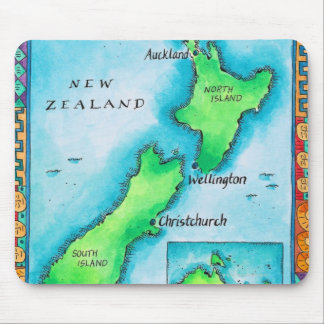 Map of New Zealand 2 Mouse Mat