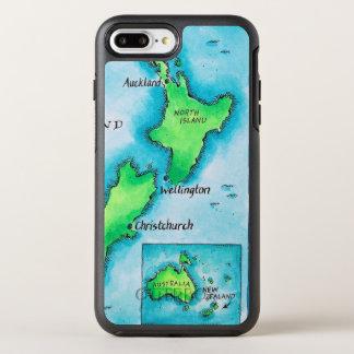 Map of New Zealand 2 OtterBox Symmetry iPhone 8 Plus/7 Plus Case