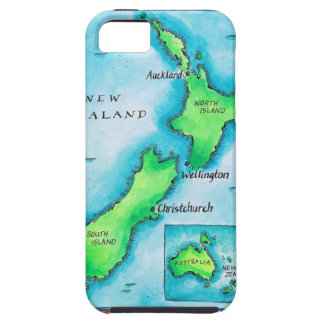 Map of New Zealand 2 Tough iPhone 5 Case