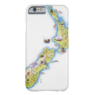 Map of New Zealand Barely There iPhone 6 Case