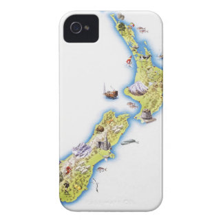Map of New Zealand iPhone 4 Cover