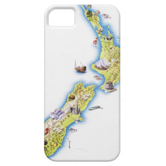 Map of New Zealand iPhone 5 Cases