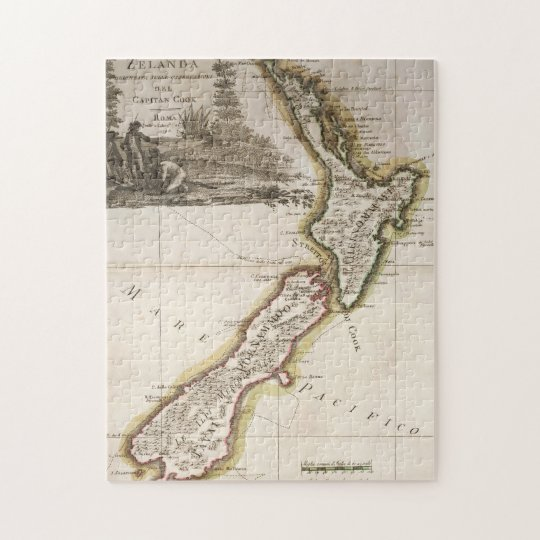 Richmond jigsaw puzzles zazzle map of new zealand jigsaw puzzle gumiabroncs Image collections