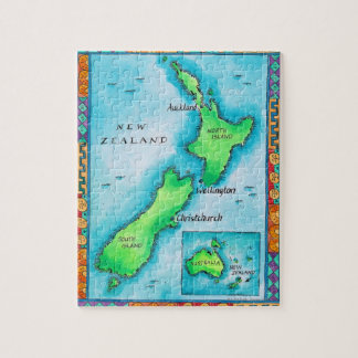Map of New Zealand Jigsaw Puzzle