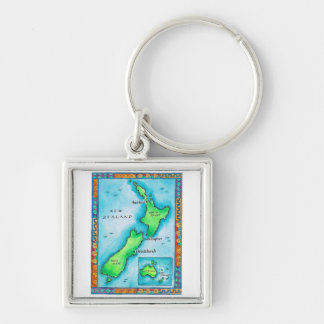 Map of New Zealand Key Chains