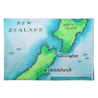 Map of New Zealand Placemat