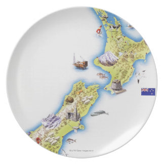 Map of New Zealand Plate