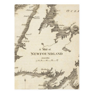 Map of Newfoundland Postcard
