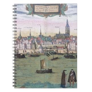 Map of Nijmegen, from 'Civitates Orbis Terrarum' b Notebooks