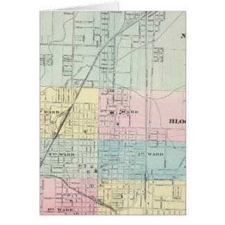 Map of Normal, Bloomington Card