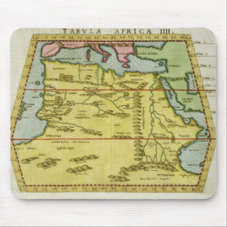 Map of North Africa, c.1580s (coloured engraving) Mouse Mat