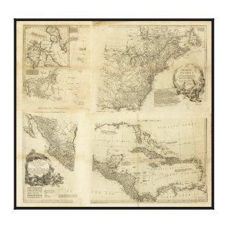 Map of North America (1763) Gallery Wrapped Canvas