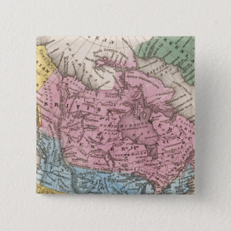 Map of North America 2 15 Cm Square Badge