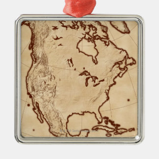 Map of North America 2 Christmas Ornament