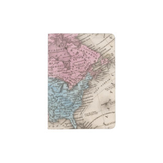 Map of North America 2 Passport Holder