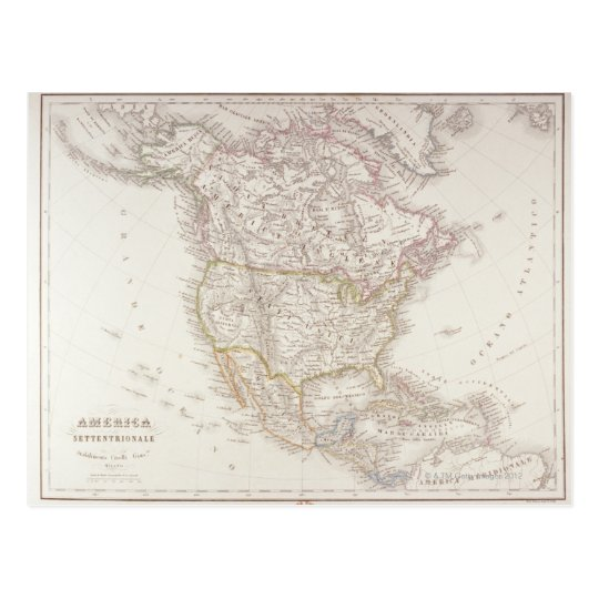 Map of North America 2 Postcard