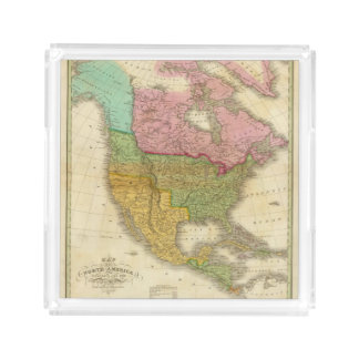 Map of North America 3 Acrylic Tray