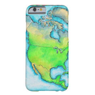 Map of North America 3 Barely There iPhone 6 Case