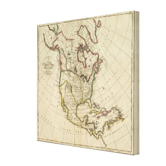 Map of North America 3 Canvas Prints
