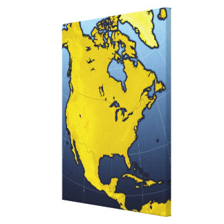 Map of North America 3 Canvas Print