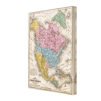 Map of North America 3 Gallery Wrap Canvas