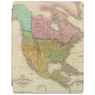 Map of North America 3 iPad Cover