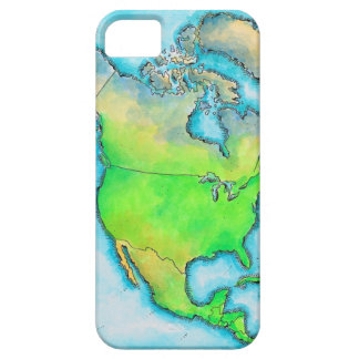 Map of North America 3 iPhone 5 Case