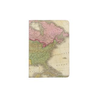 Map of North America 3 Passport Holder