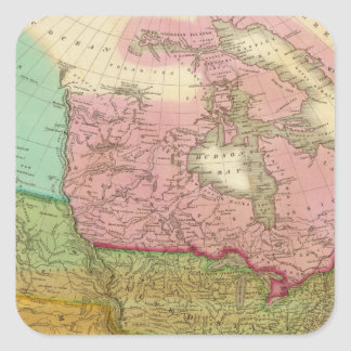 Map of North America 3 Square Sticker