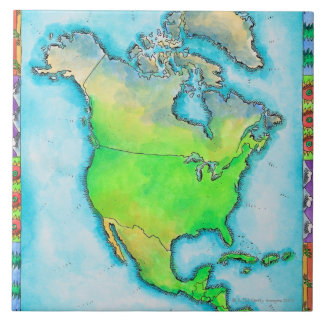 Map of North America 3 Tile