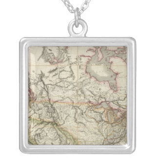 Map of North America 4 Silver Plated Necklace