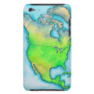 Map of North America Barely There iPod Cases