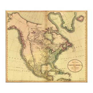 Map of North America by John Cary (1811) Canvas Prints