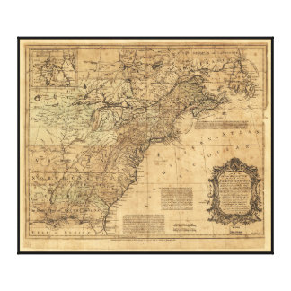 Map of North America by Thomas Kitchin (1755) Canvas Prints