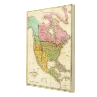 Map of North America Canvas Prints