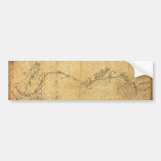Map of North America Cape Cod to Havannah (1784) Bumper Sticker