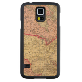Map Of North America Carved Maple Galaxy S5 Case