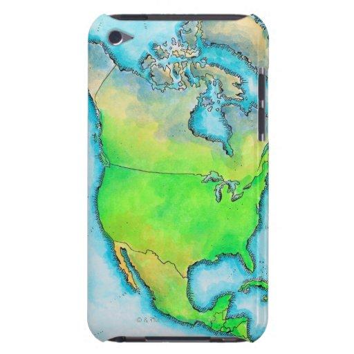 Map of North America iPod Case-Mate Case