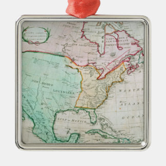 Map of North America Christmas Ornament