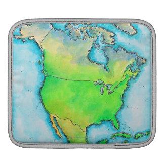 Map of North America iPad Sleeves