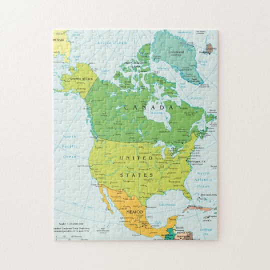 Map Of America Jigsaw.Map Of North America Jigsaw Puzzle