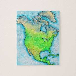 North America Map Jigsaw Puzzles Zazzle Co Uk